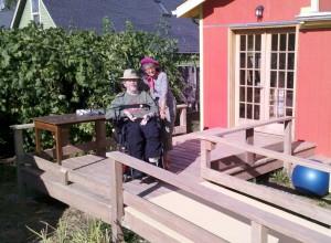 Debra and David on Back Deck