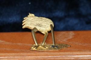Statue of golden ostrich
