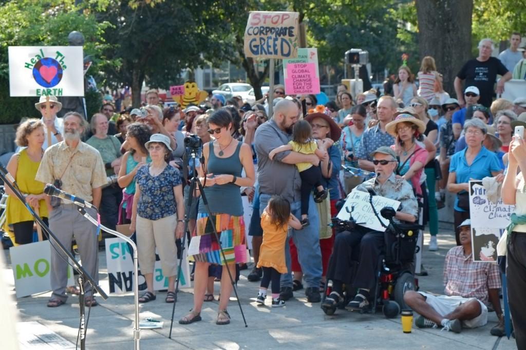 Eugenians speak up against global warming.