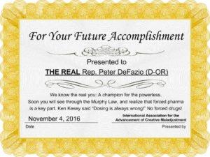 Award # 1: For Your Future Accomplishment