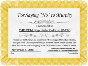 "Award # 2: For Saying ""No"" to Murphy"